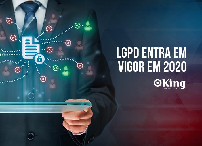 LGPD entra em vigor em 2020