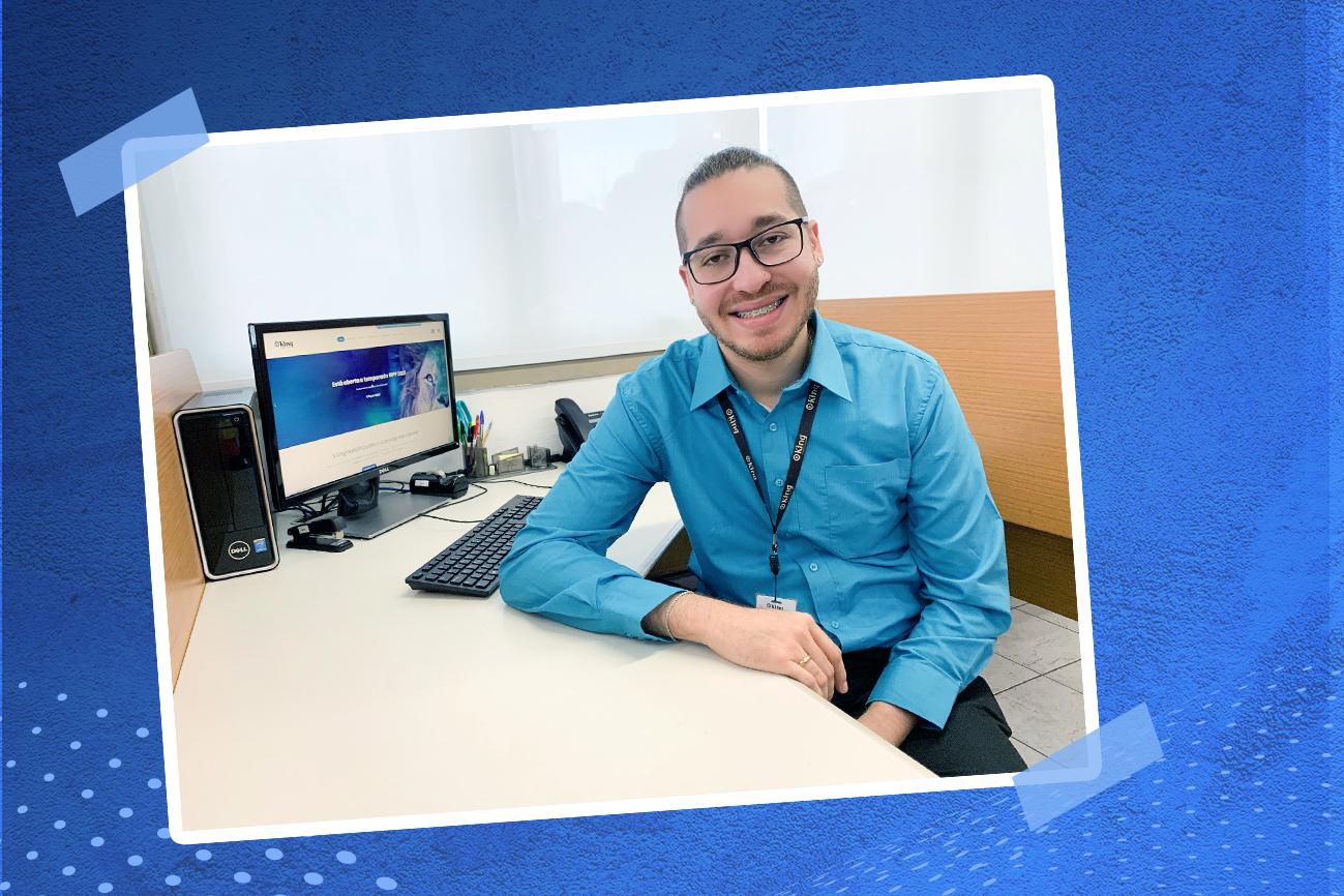 """""""Com quantos talentos se faz o sucesso"""" de maio traz o Danillo Ramos de Souza, auxiliar de logística na King Contabilidade"""